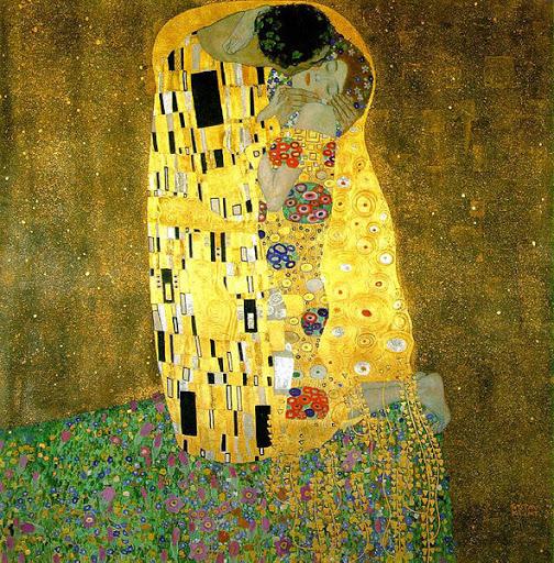 El beso de Klint, inspirado por Alma Mahler